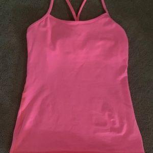 Lululemon Power Y pink tank size 8